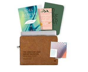 NO MORE FEAR GUIDED JOURNAL + ENCOURAGEMENT FOR AN EXCEPTIONAL LIFE + 30 DAY DECLARATION CARD SET + PREMIUM VEGAN LEATHER ELECTRONICS CASE + PEACEFUL ON PURPOSE BOOK
