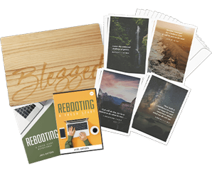BLESSED SERVING BOARD + GREETING CARDS OF HOPE + REBOOTING: A FRESH START DVD