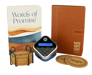 Words Of Promise Journal and Inspiration Cube  Coasters