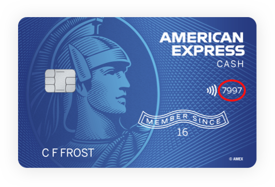 AMEX Credit Card Front
